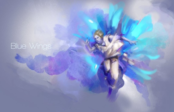 Blue Wings by Seague