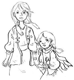 Tamaqua and Juniata, sketch