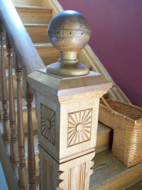 Banister and Newel Post