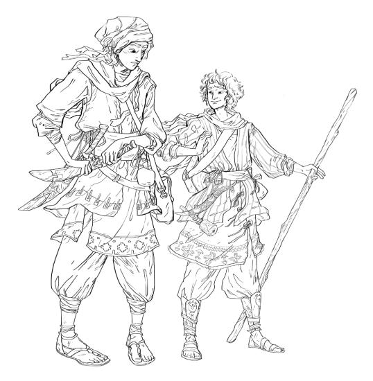 Benaiah and David, small
